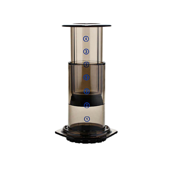 Portable Press Coffee Maker AeroPress Style with Filters
