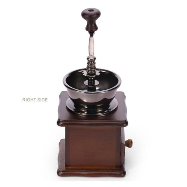 Vintage Classical Wooden Manual Coffee Grinder with Hand Stainless Steel
