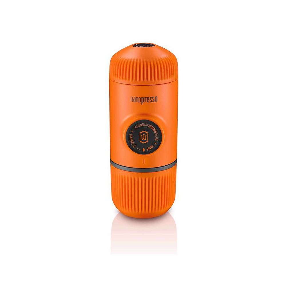 Stylish Wacaco Portable Espresso Maker the new upgrade Version of Minipresso, 18 Bar Pressure, Orange Patrol Edition.