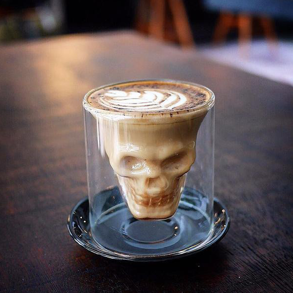 Top Selling Double Wall Skull Shot Coffee