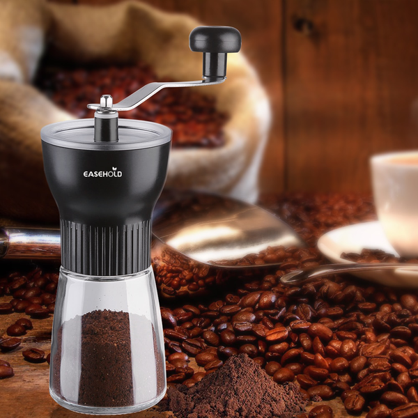 Portable Manual Coffee Grinder With Professional Conical Ceramic Burrs Class Housing