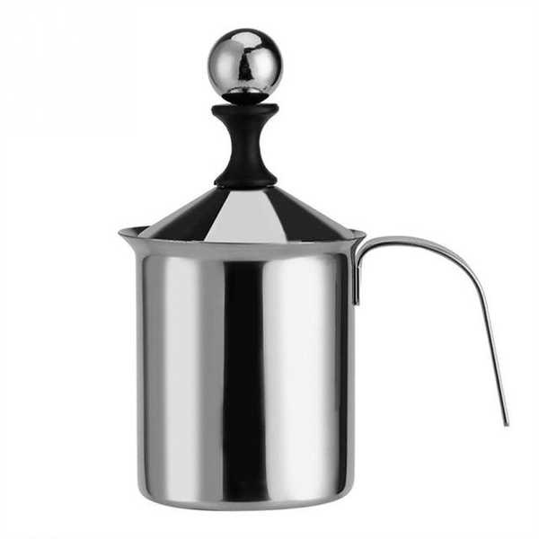 Original Manual Milk Frother Stainless Steel Double  Milk Creamer