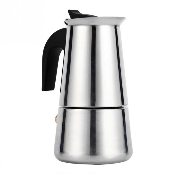 Portable Espresso Coffee Maker Moka Pot Stainless Steel 100ml/200ml/300ml/450ml