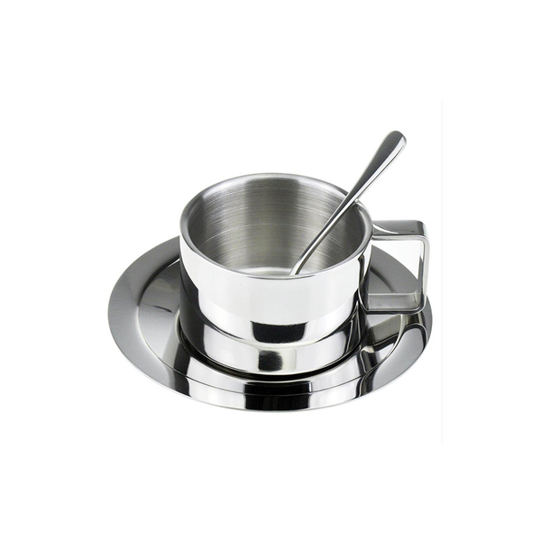 Stainless Steel Coffee Cup for Espresso and Latte with Spoon