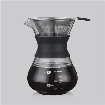 Drip Coffee Maker with High Borosilicate Glass Pot Available in 200ml/400ml