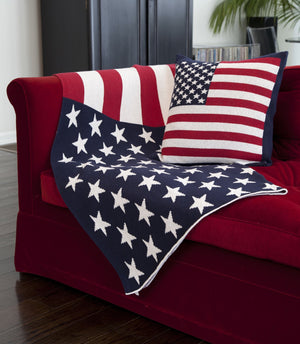Eco American Flag Cushion