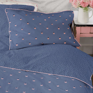 Anorak Ladybirds Reversible Blue - Pillow Case