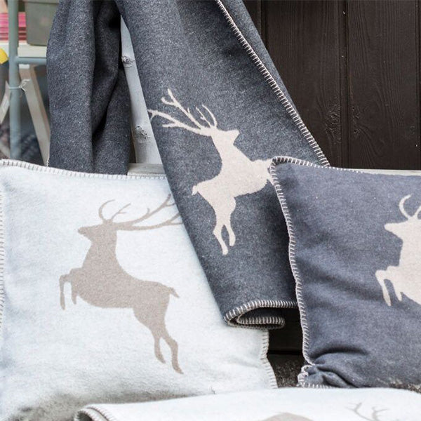 David Fussenegger Grey (Beige) Deer Style Cushion