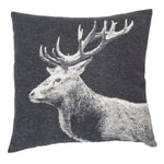 David Fussenegger Charcoal Stag Photo Cushion 50cm x 50cm