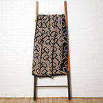 Eco Reversible Bits Hemp/Black Throw