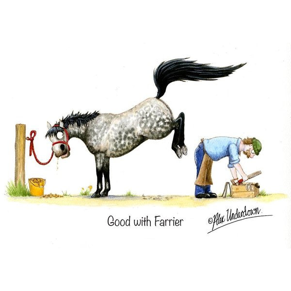 CSP Greetings - Good with Farrier Greeting Card
