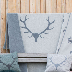 David Fussenegger Grey Antlers Montana Throw 200cm x 140cm