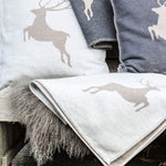 David Fussenegger Grey (Beige) Deer Style Throw