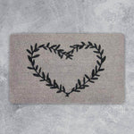 Door Mat - Heart Wreath - 45cm x 75cm x 4cm