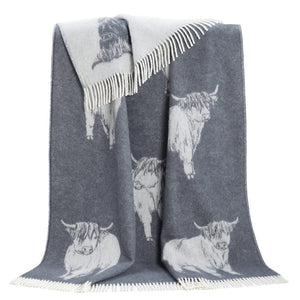 JJ Textile - Highland Cow Throw