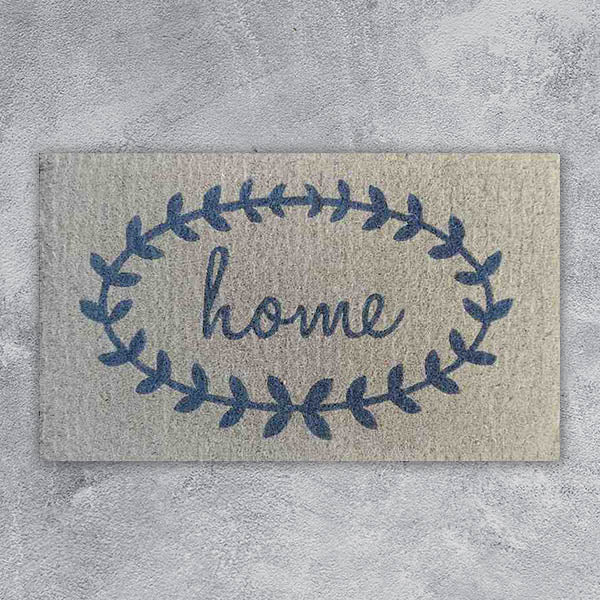 Door Mat - Home in Wreath - 45cm x 75cm x 4cm