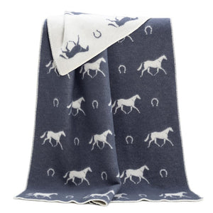 JJ Textile - Horse Shoe Throw Dark Grey