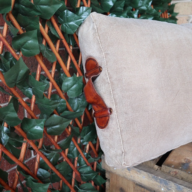 Phil Bee Interiors Polo Leather Cushion