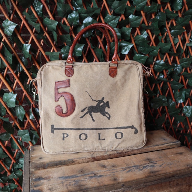 Phil Bee Interiors Vintage Handmade Polo Canvas Satchell No.5