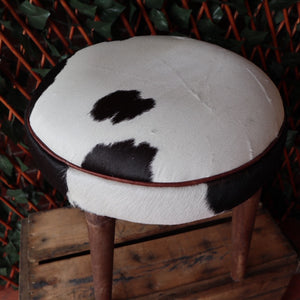 Phil Bee Interiors Short Cowhide Stool