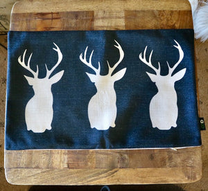 Trio Deer Silhouette Cushion