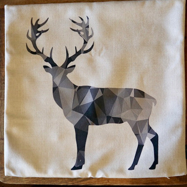 Graphic Deer Silhouette Cushion