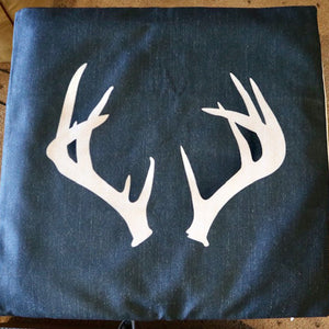 Deer Antler Silhouette Cushion