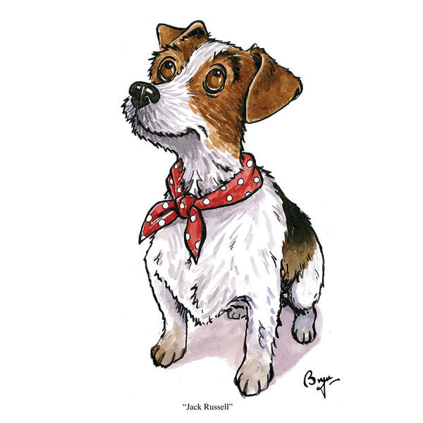 CSP Greetings - Jack Russell Greeting Card by Bryn Parry