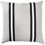 Paloma Living Linen Duo Stripe Black Cushion