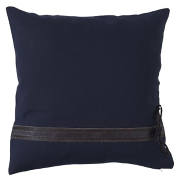 Paloma Living Hampton Leather Navy Cushion 50 x 50cm
