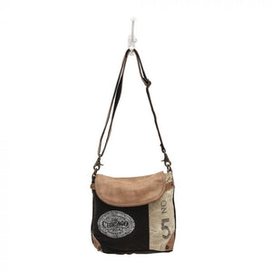 Myra Leather Flap Shoulder Bag