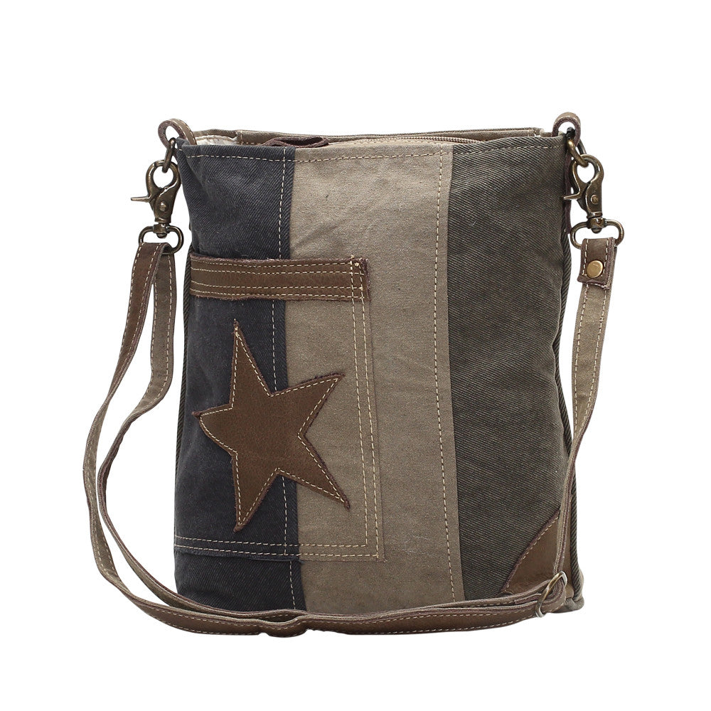Myra Bags Star on Denim Cross Body Bag