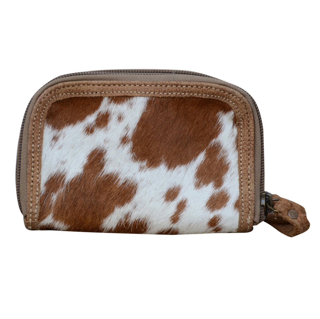 Phil Bee Interiors Tan Cowhide Double Zip Purse