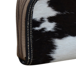 Phil Bee Interiors Dark Cowhide Double Zip Purse