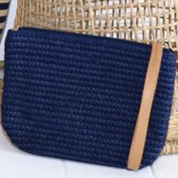 Sundaise - Palm Beach Navy Zip Purse