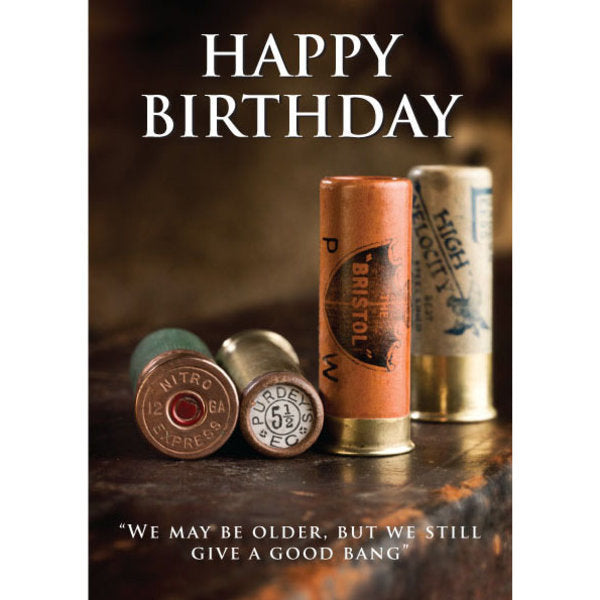 CSP Greetings - Old Shotgun Cartridges Birthday Card