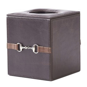 Paloma Living Leather Tissue Box Dark