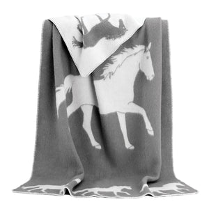 JJ Textile - Ride Horse Throw Grey