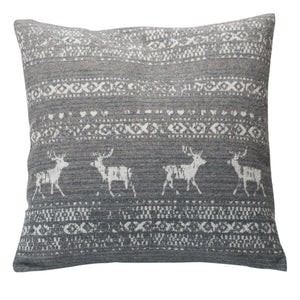 David Fussenegger Grey Alpine Border Montana Cushion