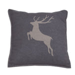 David Fussenegger Charcoal Deer Style Cushion