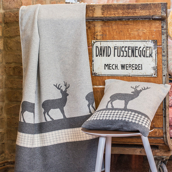 David Fussenegger Grey Deer Checks Throw