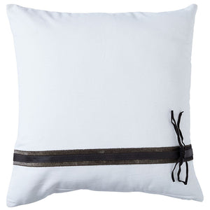 Paloma Living Hampton Leather White Cushion