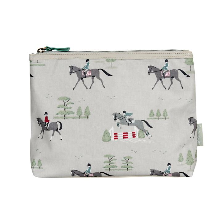 Sophie Allport Horses Oilcloth Toiletry Bag