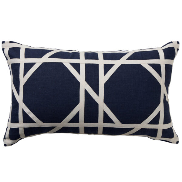 Paloma Living Navy Milano Tile Cushion 30cm x 50cm