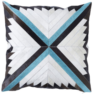 Paloma Living Turquoise Cowhide Cushion