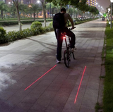 Rear Laser Safety Light for Cycling
