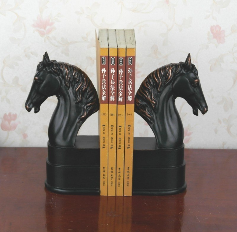 Elegant European Study of High-Grade Office Decorations Resin Crafts Horse Desktop Bookends Best GIFT, Free Shipping
