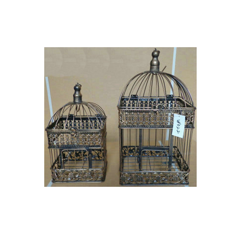 Fashion Wedding Birdcage  Iron Home Decoration Props Bird Cage Custom Decorative Cage Black White Copper colors