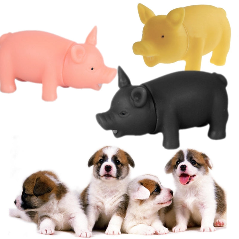 MISTEROLINA Dog Toys Chew Squeaker Rubber Pet Toys For Dogs Pet Supplies Squeaky Sound Screaming Pig For Pet 1 Pcs PAY9503