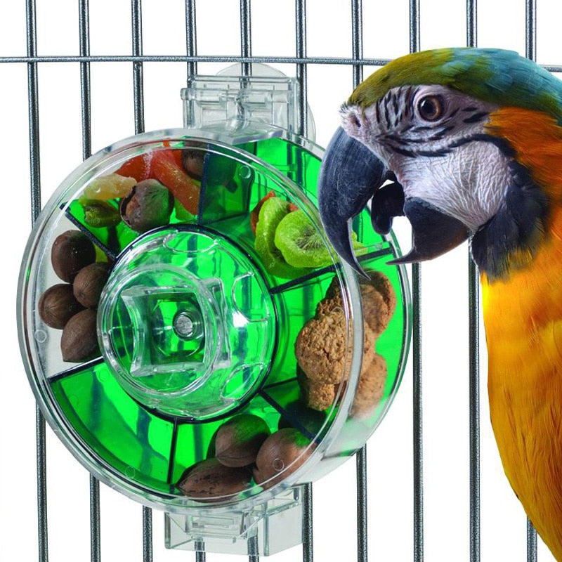 CAITEC Parrot Toys Large Foraging Wheel Tough Durable Bite Resistant Suitable for Medium or Large Parrots Classic Bird Toys